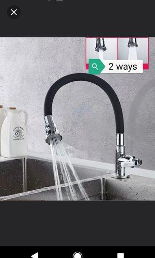 Ready Stock Brand new water sink tap (2 way outlet + hot & cold water options)