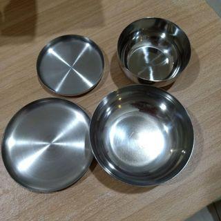 全新 韓國不銹鋼 吃飯碗(含蓋) 正韓