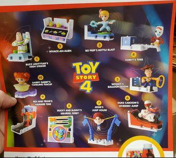 Toy story 4 McDonald's complete set of 10 - Pre order - read full listing