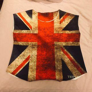 Preloved ENGLAND FLAG blouse