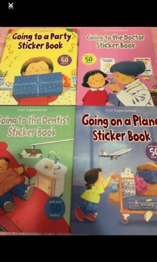 Instock kids children story book w Stickers brand new ideal for party gift /children days gift price for one is $4 each