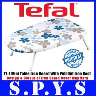 Tefal TL-1 Mini Table Ironing Board. With Pull Out Iron Rest. Color May Vary. Current stock is blue cover.