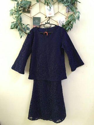 Dark Blue Lace Baju Kurung