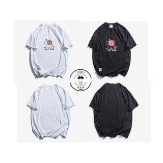 『誰合普UHF®』合作品 日系趣味印花 百搭短袖上衣 男女皆可。2色 (網路特賣價$580)起標價=直購價