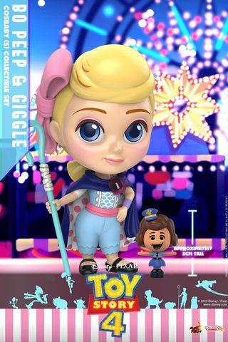 Hot Toys Toy Story 4 Bo Peep and Giggle Cosbaby Set MISB