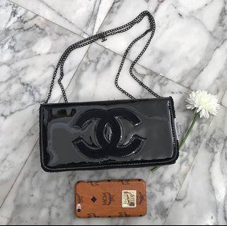 Authentic Chanel sling bag glossy