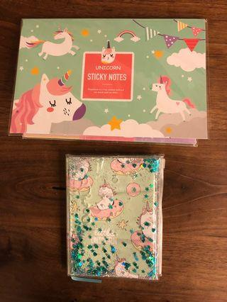 Unicorn Note Pad and Diary
