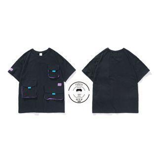 『誰合普UHF®』合作品 拚色多口袋 特色短袖上衣 男女皆可。 (網路特賣價$850)起標價=直購價