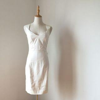 H&M Off-White Sleeveless Dress