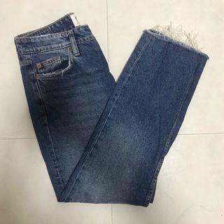 zara straight leg denim jeans