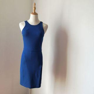 Zara Navy Blue Sheath Dress