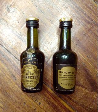 Twin Miniature Bottles of Renowned Hennessy Cognac