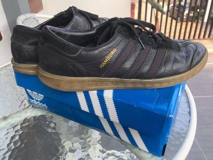 Adidas Hamburg Core Black Leather Gum Original