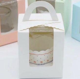 BN Single Cupcake Boxes in White