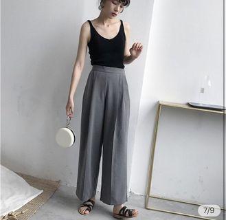 🚚 灰色復古休閒寬褲🖤
