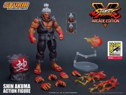STORM 1/12 STREET FIGHTERS V ARCADE EDITION SHIN AKUMA SDCC 2018 EXCULSIVE (Stock-In-Hand)