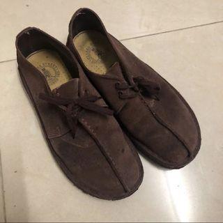 Clarks 經典款 酒紅 深紅 棗紅 綁帶鞋 US7