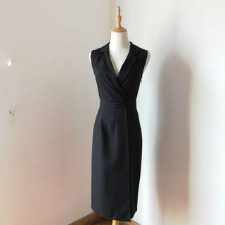 Zalora Black Straight Dress Sleeveless