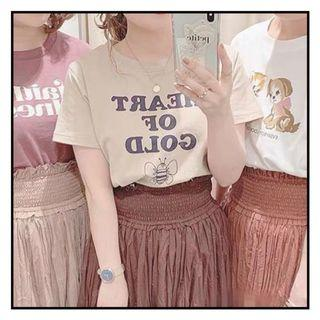 Nice claup 奶茶色Hear of gold Tee