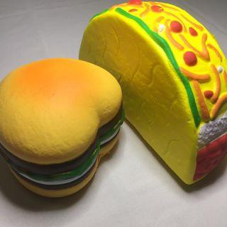 Squishy Heart Burger and Taco