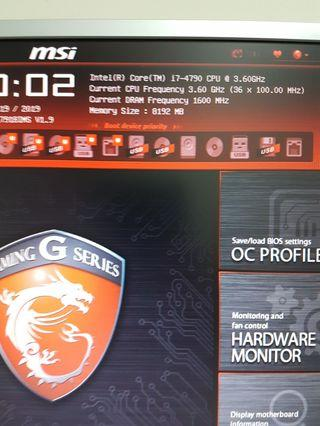 🚚 H97 Gaming 3 & i7-4790 @3.60Ghz