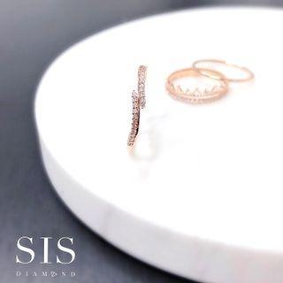 SIS Diamond 小清新 橄欖枝 小禮物 哄女朋友 18K