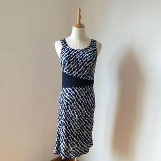 Blue & White Printed Dress