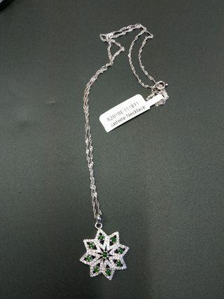 A grade jadeite Necklace, S925, with certificate