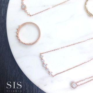 SIS Diamond 小清新 頸鏈 小禮物 哄女朋友 18K