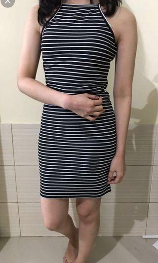 Stripe dress fit to body