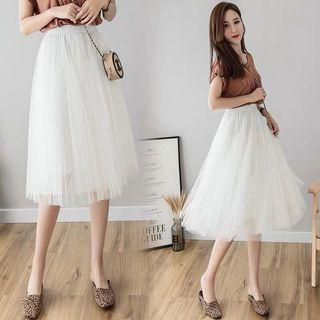White Tulle Skirt / Tutu skirt in White #MGAG101  #juneToGo