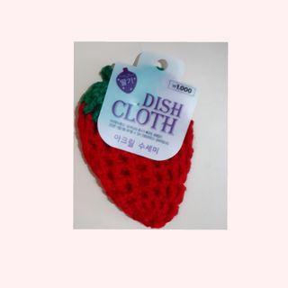 草莓 菜瓜布 洗碗布 全新