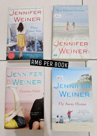 Adult / Contemporary Fiction Novels by Jeniffer Weiner