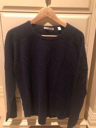 Navy wool&cashmere jumper
