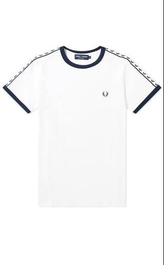 Authentic Fred Perry Ringer Tee White