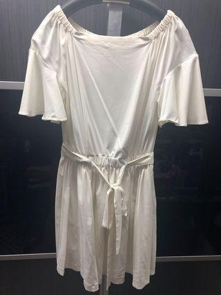 全新 白色連身裙