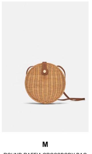 Women's raffia crossbody bag from Zara -Brand new with tags