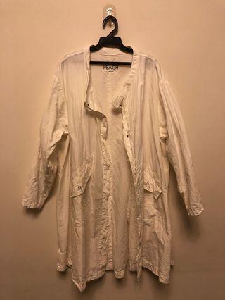 男女可穿 中性帥氣白色外套 去韓國買的穿過2次 9成新 衣服太多故出售