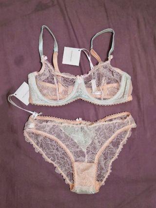 Mimi Holliday Cute Lace Lingerie Bra & Underwear Set