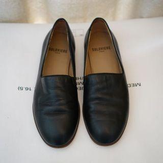 Soloviere Pantome Navy Leather Slipper