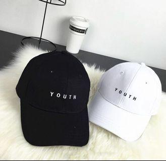 black YOUTH baseball cap