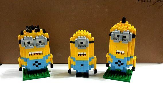 Nano blocks Minions ( Stuart, Bob, Kevin )