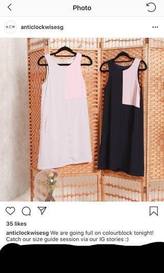 ⁉️SALE⁉️BNIB anticlockwise acw double tone shift dress in dusty grey     Tcl closet lover neonmello love bonito lilypirate Fayth tsw fashmob AFA aforarcade