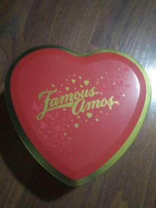 Famous Amos metal container