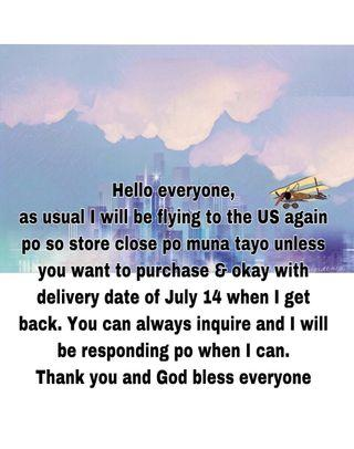 US flight Jun 20 and will be back July 12