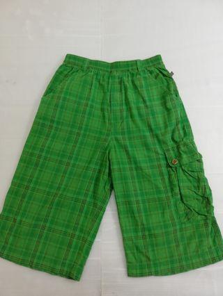 🚚 Ngu 古著純棉格子綠色多口袋短褲