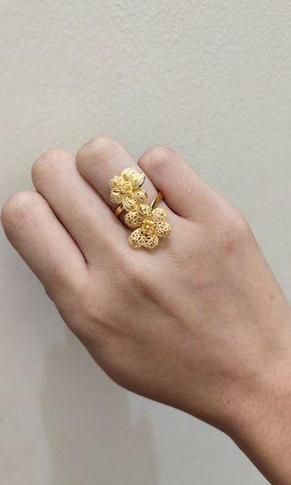 Cincin bunga gold