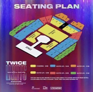 cat 1 pen C twicelights concert ticket
