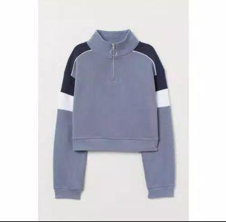 H&M Stand Up Collar Sweat Shirt