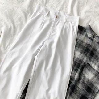 🚚 white linen pants
